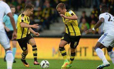 Mario Götze und Emre Mor von Borussia Dortmund.