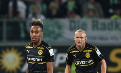 Pierre-Emerick Aubameyang und Sebastian Rode vom BVB.