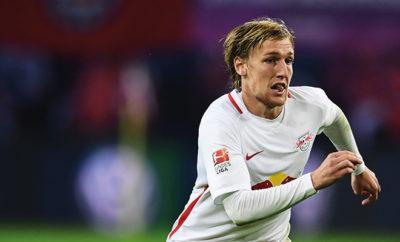 RB Leipzig-Stürmer Emil Fprsberg.