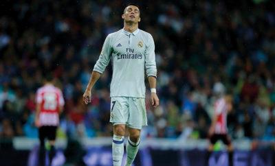 Cristiano Ronaldo enttäuschte auch Spiel von Real Madrid gegen Athletic Bilbao.