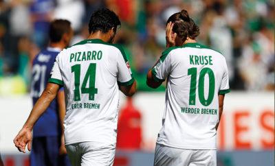 Claudio Pizarro und Max Kruse hoffen auf ein baldiges Comeback beim SV Werder Bremen.