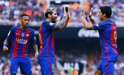 Lionel Messi und Neymar gemeinsam beim FC Barcelona.