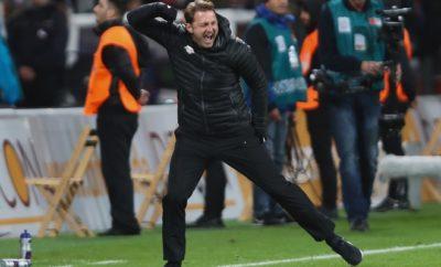 Ralph Hasenhuettl ist der Trainer bei RB Leipzig.