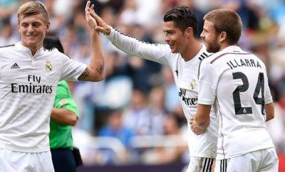 Cristiano Ronaldo und Toni Kroos spielen beide bei Real Madrid.