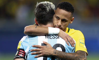 Lionel Messi unterlag Neymar im Spiel Argentinien gegen Brasilien.