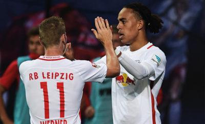Poulsen und Werner begeistern im Angriff von RB Leipzig.