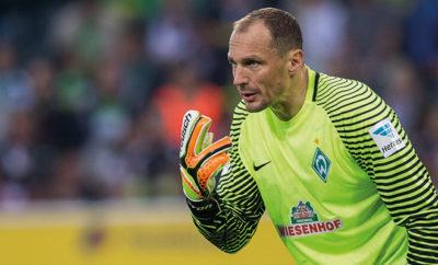 Schlussmann Drobny vom SV Werder Bremen.