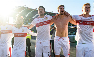 Nach dem Derbysieg ließ es der VfB Stuttgart ordentlich krachen.