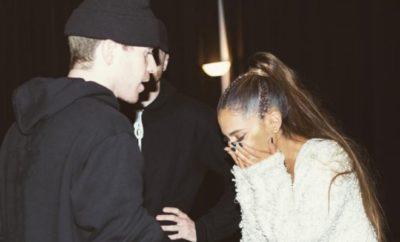 Ariana Grande geht mit Backgroundtänzern auf Tuchfühlung!