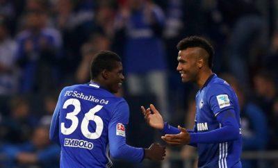 Embolo und Choupo-Moting vom FC Schalke 04.