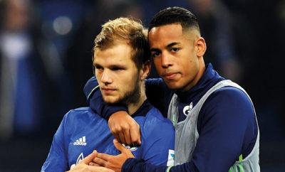 Max Meyer und Dennis Aogo vom FC Schalke 04.