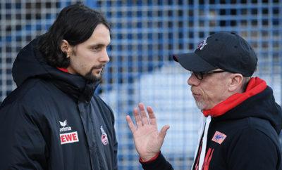 Subotic und Peter Stöger vom 1. FC Köln.