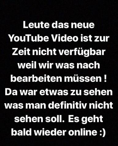BTN-Star entfernt YouTube-Video: Instagram Story.