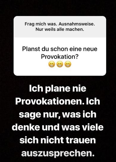 Offen und ehrlich statt provokant? Instagram Story.