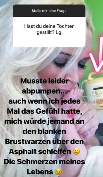 Daniela Katzenberger offen wie nie: Instagram Story.