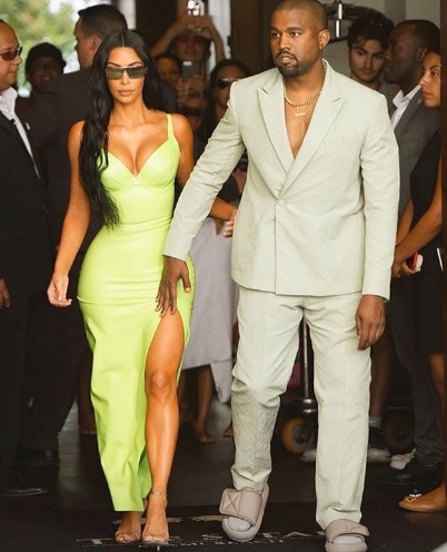 So tauchten Kanye und Kim bei der Hochzeit auf: Instagram Story.