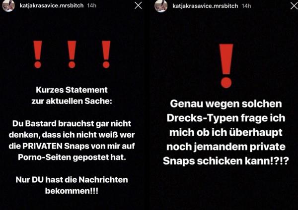 Die 22-Jährige ist stinksauer: Instagram Story.
