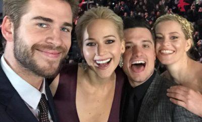 Jennifer Lawrence nackt mit Liam Hemsworth in Fetisch-Club