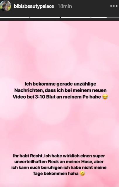 Bibi spricht in ihrer Instagram Story Klartext.