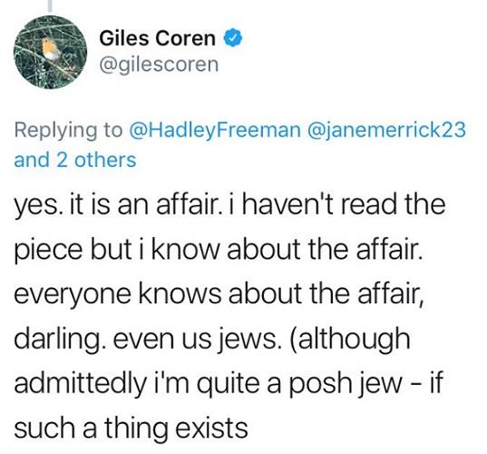 Reporter bestätigt Affärengerüchte: Twitter.