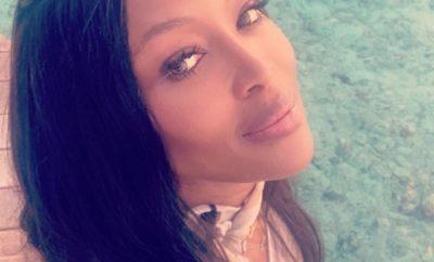 Naomi Campbell wirbt nackt für Beauty-Kampagne.